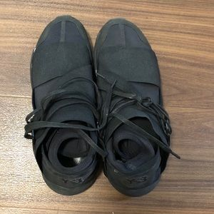Adidas Y-3 Qasa High all black sneakers